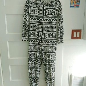 Hooded Adult Zip Up Onsie New Look